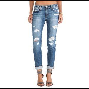Joe's Jeans Boyfriend Slim Gessa Ripped Jeans 27